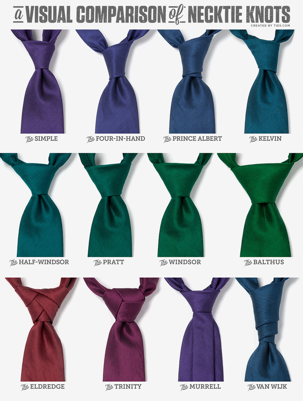 learn how to tie necktie knots