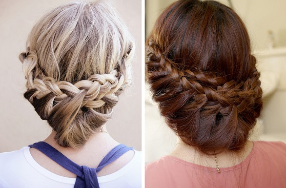 Vintage princess braided updo
