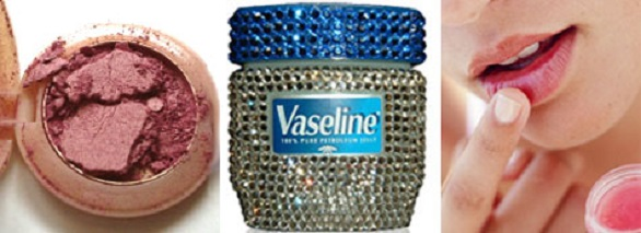 Blush with vaseline