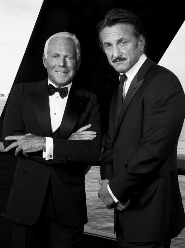 Giorgio Armani and Sean Penn Campaign