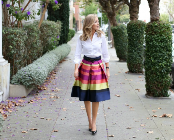 Full Midi Skirt fashion